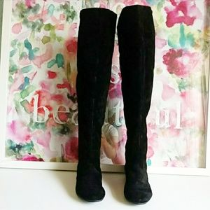 NINE WEST | Sitcom Suede Over the Knee Boots Sz 7M